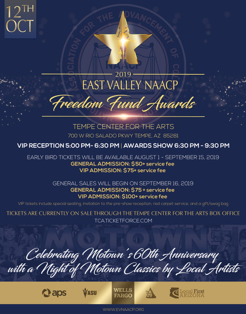 2019 EVNAACP Freedom Fund Awards Poster